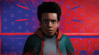 Miles Morales in Sony Pictures Animation's SPIDER-MAN: INTO THE SPIDER-VERSE.