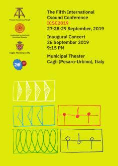 International Csound Conference 2019-locandina