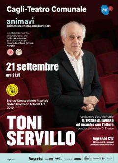 Animavì Festival premia Toni Servillo con il Bronzo Dorato all'arte della recitazione-locandina