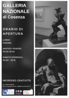 Locandina Galleria nazionale di Cosenza