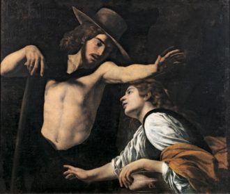 Museo di Palazzo Pretorio_Battistello Caracciolo, Noli me tangere, 1618, olio su tela, cm 123x142