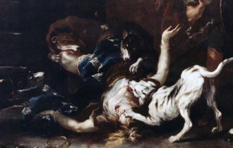 Dettaglio Jezabel dilaniata dai cani