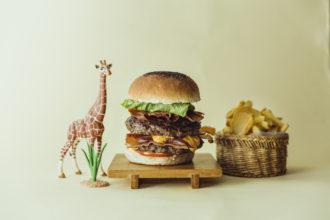 Hamburger double bacon cheeseburger