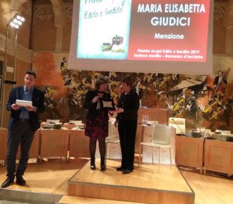 Maria Elisabetta Giudici Premio Acqui Terme 2019