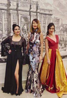 Da sinistra: Isabella Turso, Jane Alexander, Stella Sabbadin