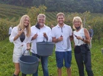 La famiglia Balbinot, Ernesto e Silvana con i figli Marco e Anna