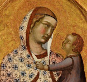 Polittico Lorenzetti - Post Madonna con Bambino (part.)