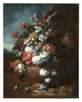 Prato, Museo di Palazzo Pretorio Gasparo Lopez (attr.), (Napoli, ? - Firenze, 1740) Composizione di fiori, inv. 1721 1730 ca. Olio su tela, 75 x 57 cm