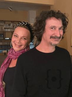 Miriam Rizzo in compagnia di Sergio Cammariere