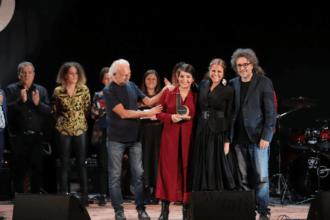 La vincitrice Cristiana Verardo con Gaetano d'Aponte - tosca e Ferruccio Spinetti - Foto di Giorgio Bulgarelli
